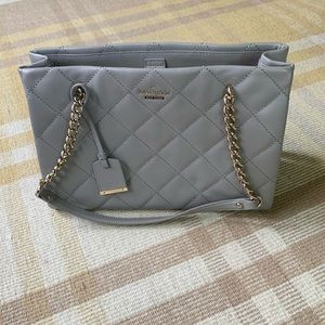 Kate Spade New York Gray Quilted Leather Purse